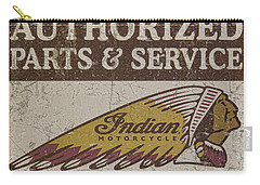 Indian Motorcycle Sign Carry-all Pouch