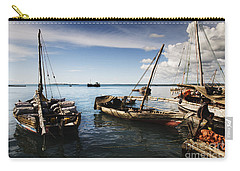 Indian Ocean Dhow At Stone Town Port Carry-all Pouch