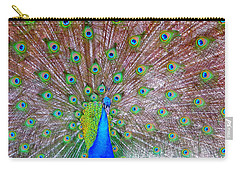 Carry-all Pouch featuring the photograph Indian Peacock by Deena Stoddard