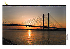 Indian River Bridge Sunset Reflections Carry-all Pouch