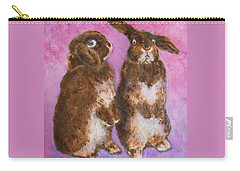 Indignant Bunny And Friend Carry-all Pouch