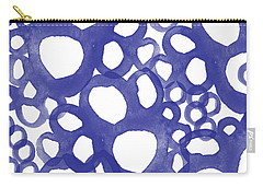 Indigo Bubbles- Contemporary Absrtract Watercolor Carry-all Pouch