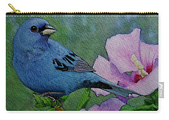 Indigo Bunting No 1 Carry-all Pouch by Ken Everett