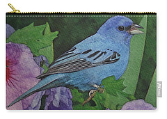 Indigo Bunting No 2 Carry-all Pouch by Ken Everett