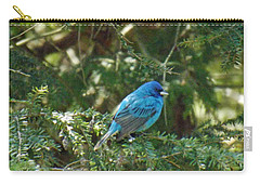 Indigo Bunting Visit Carry-all Pouch