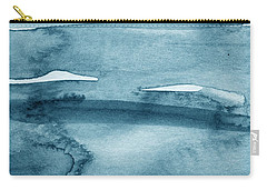 Indigo Water- Abstract Painting Carry-all Pouch