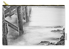 Carry-all Pouch featuring the photograph Infrared View Of Stormy Waves At Stramsky Wharf by Jeff Folger