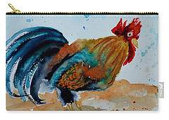 Carry-all Pouch featuring the painting Innocent Rooster by Beverley Harper Tinsley