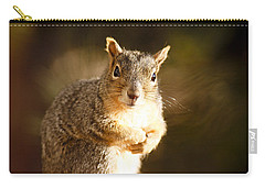 Carry-all Pouch featuring the photograph Inquisitive Squirell by Marilyn Hunt