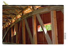 Inside A Covered Bridge 2 Carry-all Pouch