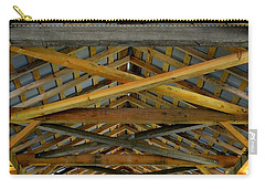 Inside A Covered Bridge 3 Carry-all Pouch