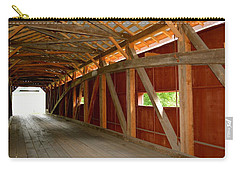 Inside A Covered Bridge Carry-all Pouch