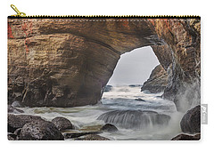 Inside Devils Punch Bowl Carry-all Pouch by Jacqui Boonstra