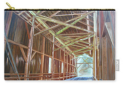 Inside Felton Covered Bridge Carry-all Pouch by LaVonne Hand