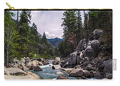 Inspirational Bible Scripture Emerald Flowing River Fine Art Original Photography Carry-all Pouch