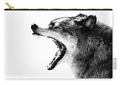Intense Gray Wolf Portrait  Carry-all Pouch