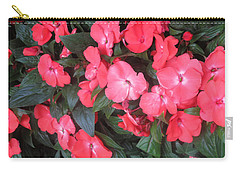 Carry-all Pouch featuring the photograph Interior Decorations Butterfly Garden Flowers Romantic At Las Vegas by Navin Joshi
