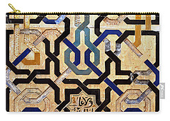 Interlocking Tiles In The Alhambra Carry-all Pouch by RicardMN Photography