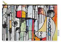 Carry-all Pouch featuring the painting Internal Opposition by Jason Williamson