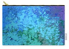 Carry-all Pouch featuring the painting Into The Deep Blue Sea by Linda Bailey