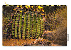 Carry-all Pouch featuring the photograph Into The Prickly Barrel by Mark Myhaver