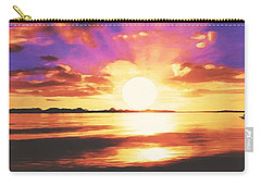 Carry-all Pouch featuring the painting Into The Sunset by Sophia Schmierer
