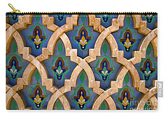 Intricate Zelji At The Hassan II Mosque Sour Jdid Casablanca Morocco Carry-all Pouch