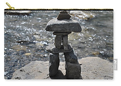 Inukshuk By The Water Carry-all Pouch by Jim Hogg