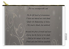 Invictus Tribute 2 Carry-all Pouch by Bobbee Rickard