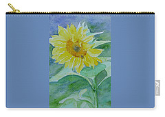 Inviting Sunflower Small Sunflower Art Carry-all Pouch
