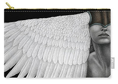 Carry-all Pouch featuring the painting Inward Flight by Pat Erickson