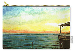 Carry-all Pouch featuring the painting Ionian Sea Zanti Greek Island by Teresa White