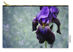 Carry-all Pouch featuring the photograph Iris - Purple And Blue - Flowers by Belinda Greb