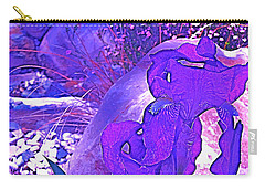 Carry-all Pouch featuring the photograph Iris 2 by Pamela Cooper