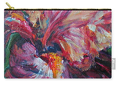Iris - Bold Impressionist Painting Carry-all Pouch by Quin Sweetman