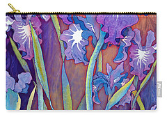 Carry-all Pouch featuring the mixed media Iris Bouquet by Teresa Ascone