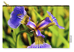 Carry-all Pouch featuring the photograph Iris by Cathy Mahnke