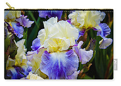 Carry-all Pouch featuring the photograph Iris In Blue And Yellow by Patricia Babbitt