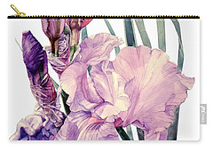 Watercolor Of An Elegant Tall Bearded Iris In Pink And Purple I Call Iris Joan Sutherland Carry-all Pouch