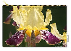 Carry-all Pouch featuring the photograph Iris by Jolanta Anna Karolska