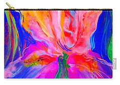 Funky Iris Flower Carry-all Pouch