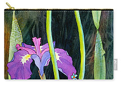 Carry-all Pouch featuring the painting Iris Tall And Slim by Teresa Ascone