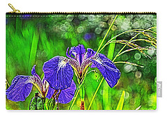 Carry-all Pouch featuring the photograph Irises by Cathy Mahnke