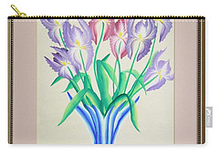 Irises Carry-all Pouch by Ron Davidson