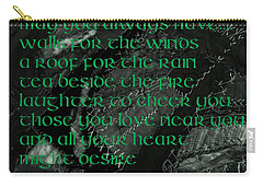 Irish Blessing Stitched In Time Carry-all Pouch