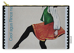Irish Music And Dance Postage Stamp Print Carry-all Pouch by Andy Prendy