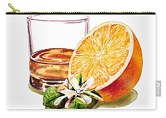 Carry-all Pouch featuring the painting Irish Whiskey And Orange by Irina Sztukowski