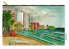 Isla Verde Beach San Juan Puerto Rico Carry-all Pouch by Frank Hunter
