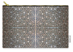 Islamic Wooden Texture Carry-all Pouch by Antony McAulay