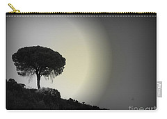Carry-all Pouch featuring the photograph Isolation Tree by Clare Bevan